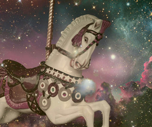 horse, carousel, and galaxy image