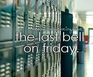 school, friday, and bell image