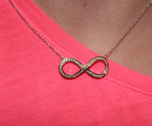 infinity, pink, and necklace image