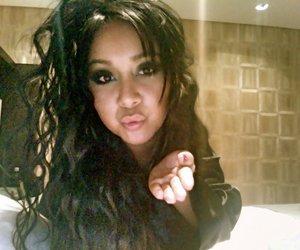 beautiful, kiss, and brunette image