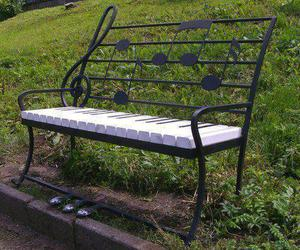 music, piano, and bench image