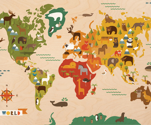 animal and world image