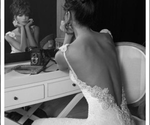 backless, beautiful, and black & white image
