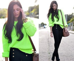 fashion, neon, and green image