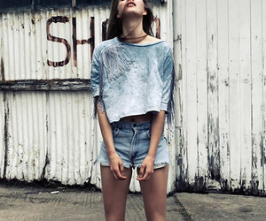 girl, model, and shorts image