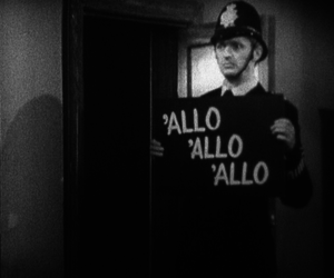 black and white, allo, and funny image