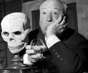 alfred hitchcock and skull image