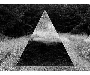triangle, black and white, and hipster image