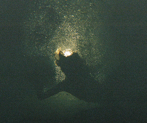 hipster, light, and underwater image