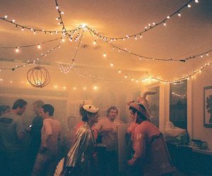 party, light, and boy image