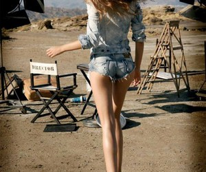 model, legs, and hair image