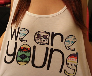 girl, young, and we are young image