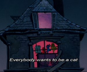 aristocats, text, and dead image
