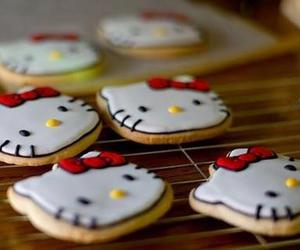 Cookies, hello kitty, and food image