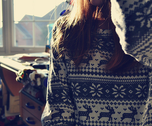 girl, sweater, and winter image