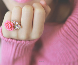 ring, pink, and fashion image
