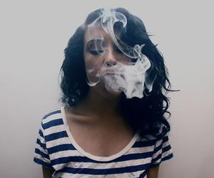 girl, smoke, and smoking image