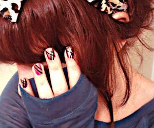 girl, red hair, and nails image