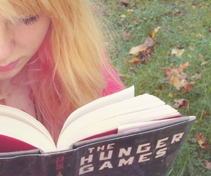 autumn, reading, and the hunger games image
