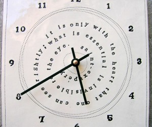 clock, le petit prince, and words image