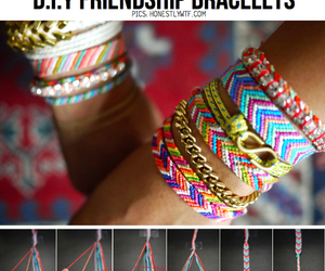 bracelet, colorful, and do it yourself image