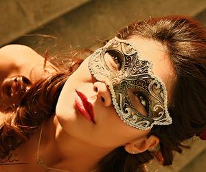 mask and girl image
