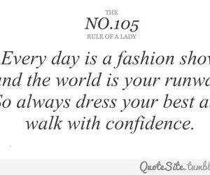 fashion, confidence, and quote image