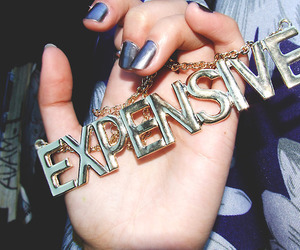 expensive, necklace, and nails image