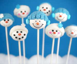christmas, snowman, and cake pops image