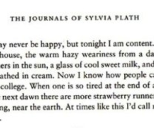 sylvia plath, text, and journals of sylvia plath image