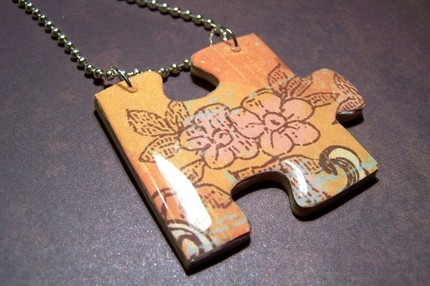 handmade, necklace, and puzzle image