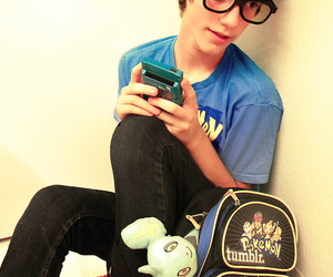 boy, glasses, and nerd image