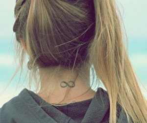 girl, tattoo, and infinity image
