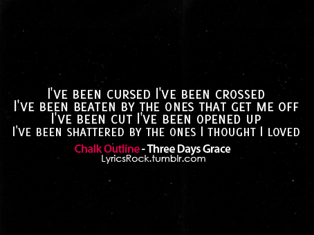Chalk outline three days grace mp3 download.