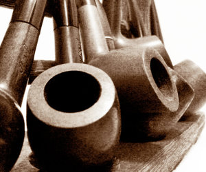 old, smoke, and pipe image