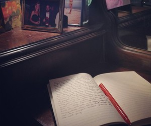 journal, writing, and reflecting image