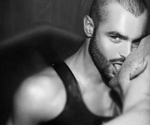 beard, gay, and black and white image
