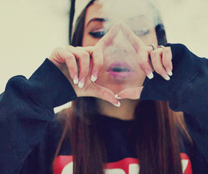 girl, obey, and smoke image