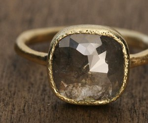 girl, gold, and ring image