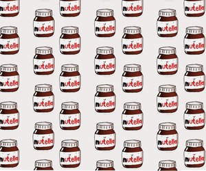 background, nutella, and chocolate image