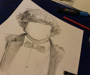 drawing, 1d, and Harry Styles image