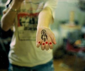 tattoo, dream catcher, and hand image
