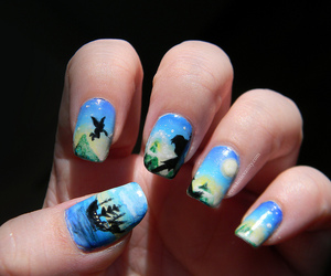 nails, peter pan, and disney image