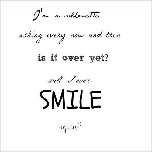 Owl City, silhouette, and smile image