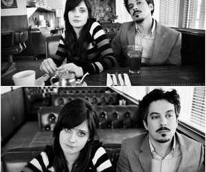 black and white, she & him, and M. ward image