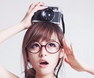 girl, cute, and camera image