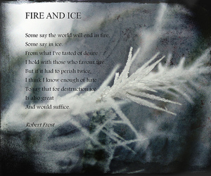 poem, fire and ice, and robert frost image