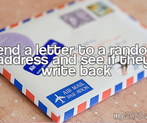 Letter and random image