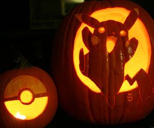 pokemon, pumpkin, and pikachu image