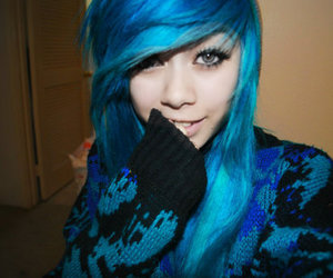 blue hair, hair, and hairstyles image